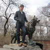 """There is a bronzed hero, near the Tisch Children's Zoo, who stands ready to accept hugs and offer rides to his admiring fans.<br /> <br /> The hero is Balto the sled dog who has nobly stood on a rock outcropping since 1925. His statue, a big favorite in the Park, is located west of East Drive and 67th Street and north of the Zoo.<br /> <br /> Back in 1925 Nome, Alaska was stricken with a horrific diphtheria outbreak. Not enough antitoxin was available to treat all the sick until teams of mushers and sled dogs battled a blinding blizzard and traveled 674 miles to deliver the medicine."""