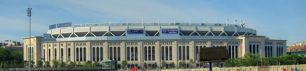 Yankee Stadium from our parking spot.