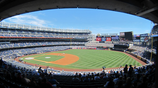 The View from our seats at Yankee Stadium