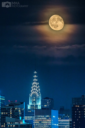 Moon Rising Behind The Chrysler Building