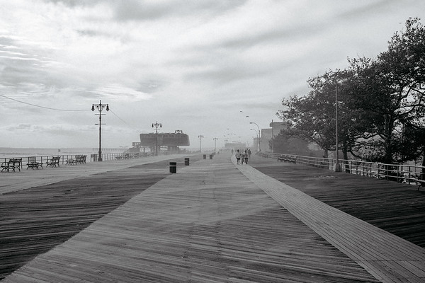 Coney Island Bordwalk  In ther Fog