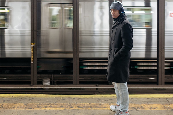 A Man Waiting For The Subway