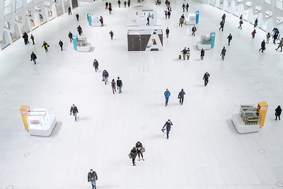 Commuters On The Ground Floor Of The Oculus In New York City