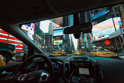 Driving in Times Square