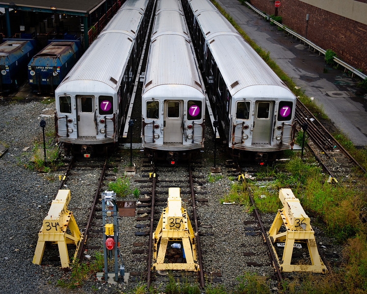 End of the line, Queens, NY, August.