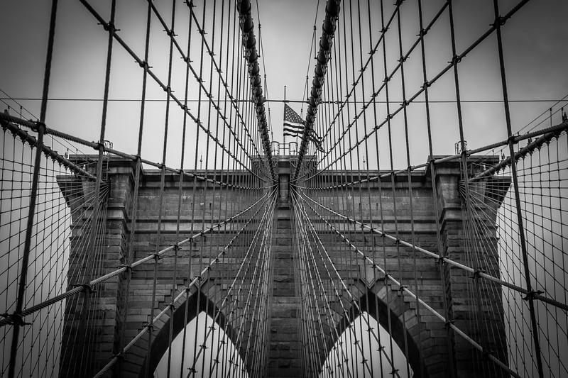 Buttress of the Brooklyn Bridge