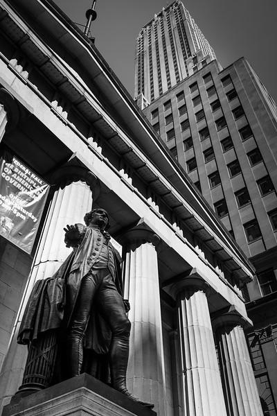 George Washington and the Pillars of Federal Hall