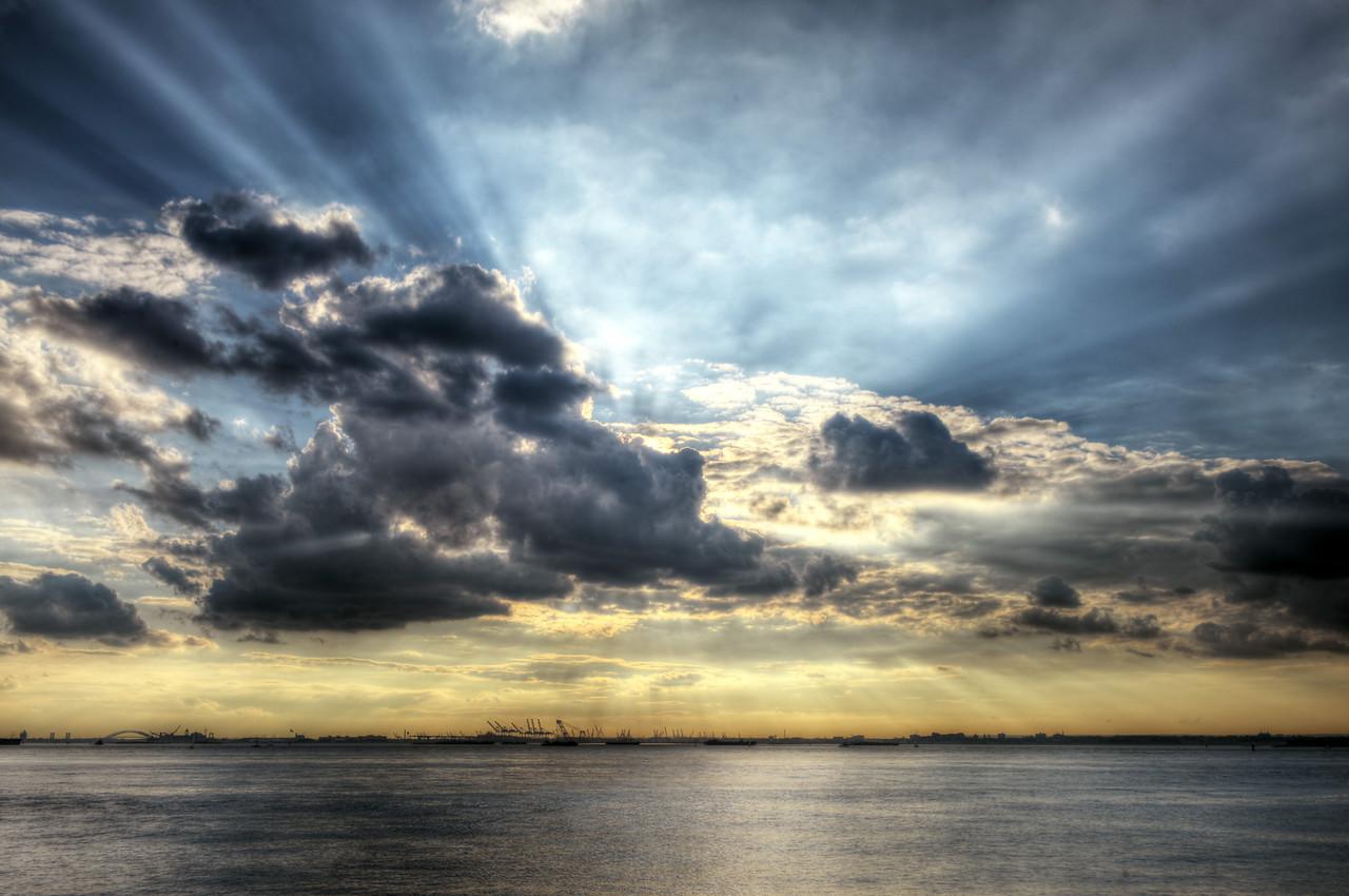 Thunderstorm over New York Bay
