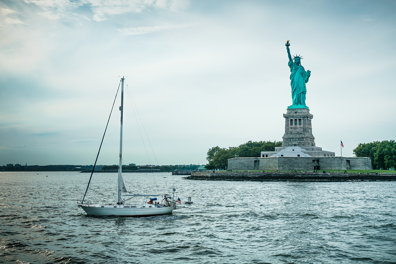 River Side View of the Statue of Liberty