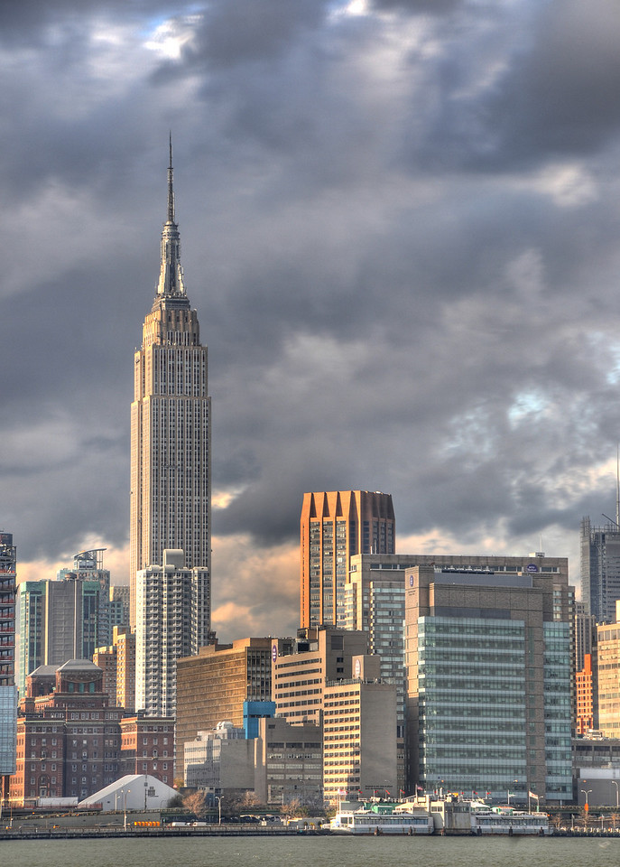 Empire State Building clouds