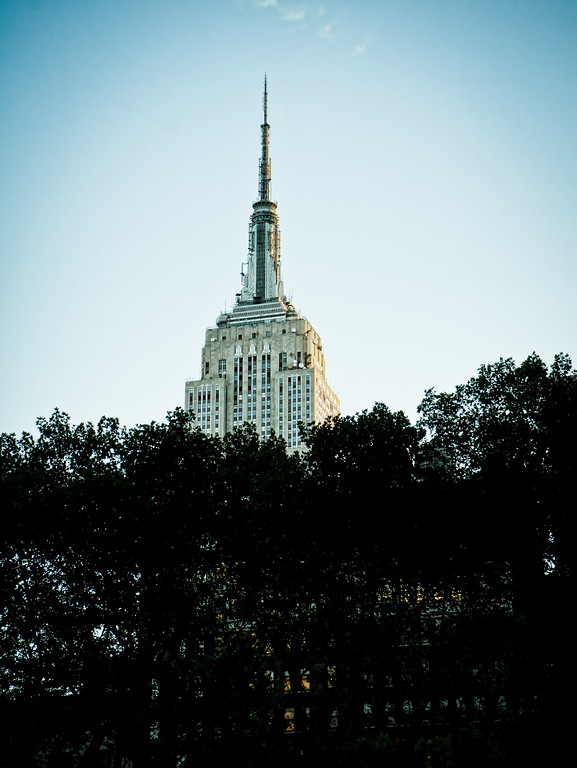 Empire State Building from Bryant Park.