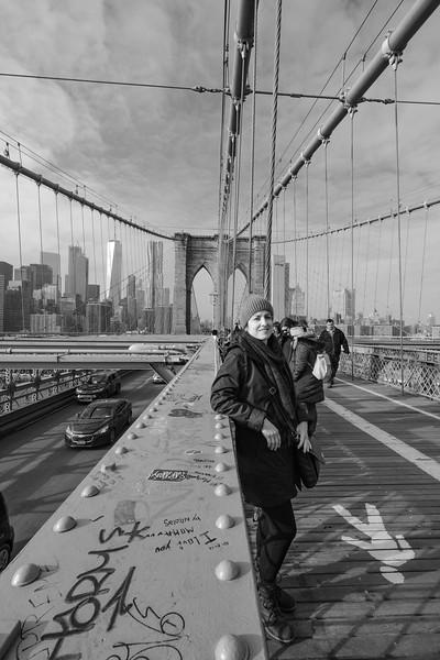 Jamie on Brooklyn Bridge