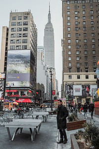 Two landmarks of NYC - Empire State Building and Chris Dillon