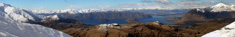 I did also stop to get the awesome scenery from Treble Cone car park.