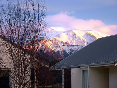 This was the view of Mt Hutt from our hotel window.