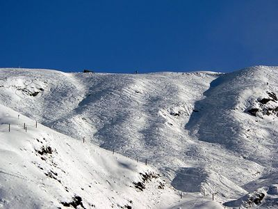 This is the powder bowl, fully tracked out now.