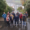 The fit half of the team at the top of Baldwin St, Dunedin - steepest street in the world!