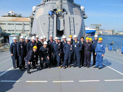 Co-workers and me onboard a Japanese Destroyer