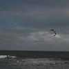 kiteboarders on the beach