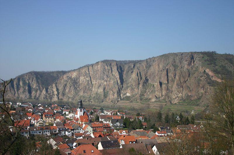 Der Rotenfels - Blick von der Ebernburg