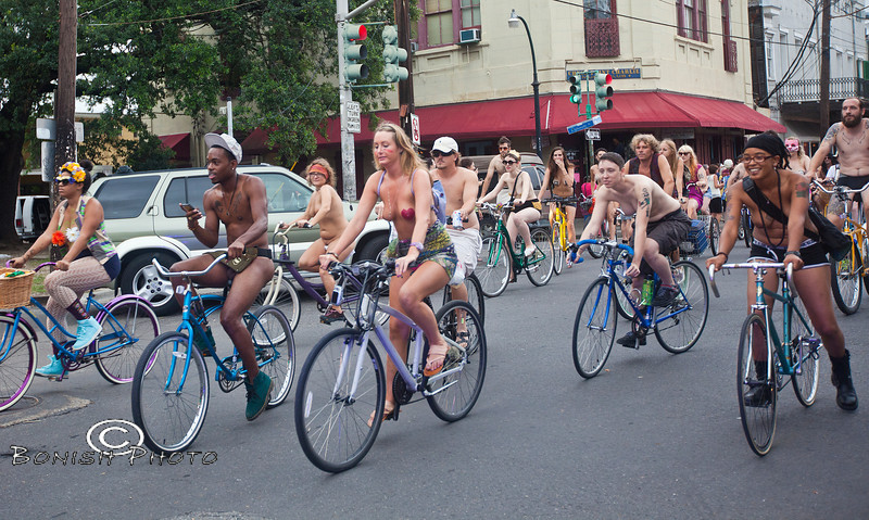 Naked Bike Parade, New Orleans, June 2012 - Bonish Photo (25)