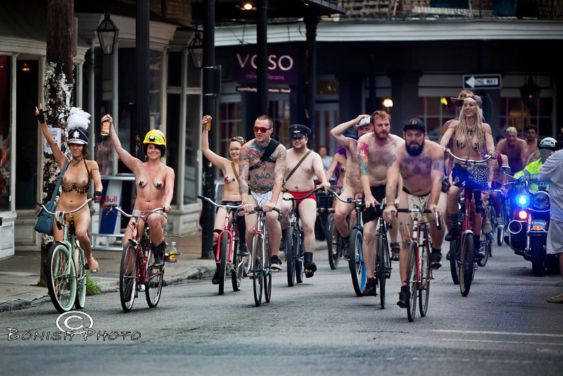 Raise a toast for the Naked Bike Parade, New Orleans, June 2012 - Bonish Photo