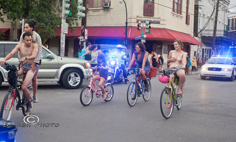 Naked Bike Parade, New Orleans, June 2012 - Bonish Photo (26)