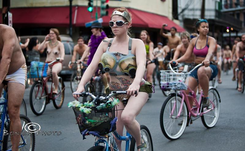 Naked Bike Parade, New Orleans, June 2012 - Bonish Photo (7)
