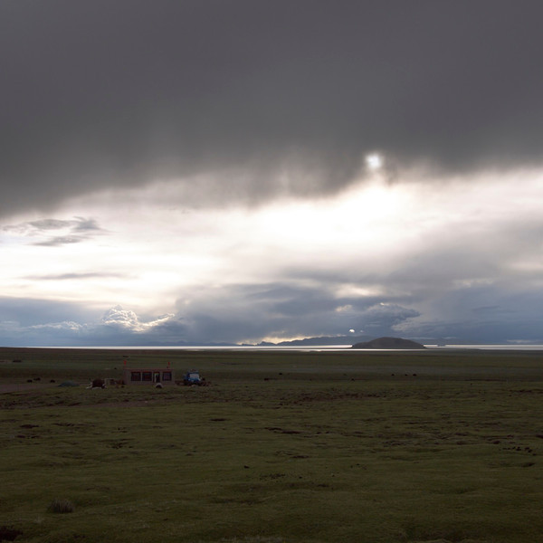 the view from our field site, and tsedrol's house