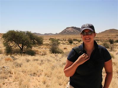 Wandelen bij Klein Aus Vista. Aus, Namibië.