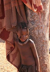 Himba meisje. Epupa Falls, Namibië.