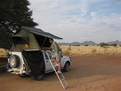 Sesriem Campground. Namib Naukluft, Namibië.