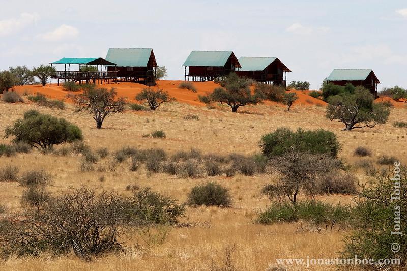 Desert Landscape and Chalets