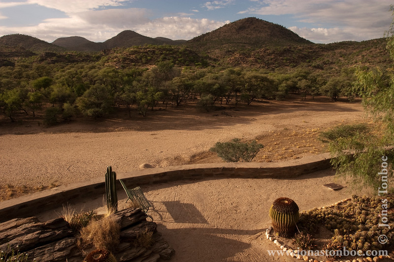 View from Main Building to Dry Riverbed