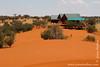 Chalets and Desert Landscape