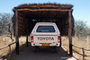 Toyota Hilux 4x4 Rental Car in Thatched Carport