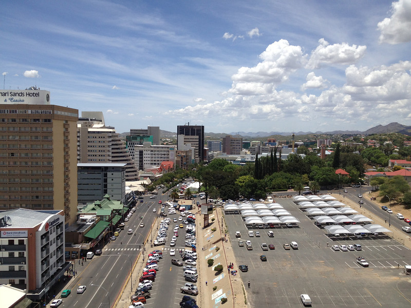 Downtown Windhoek.