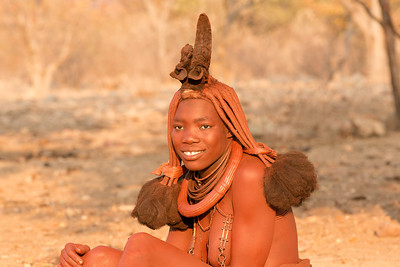 Himba youth, covered in Ochre, Namibia