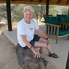 Susie on a Warthog, Erindi Old Traders' Lodge, Khomas Region