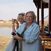 Carole and Isobel on the Deck, Erindi Old Traders' Lodge, Khomas Region