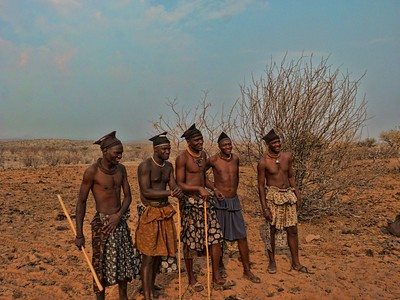 Himba men.