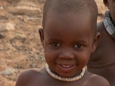 A Himba child in the village we visited.