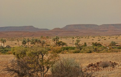 The view of the Damaraland landscape from the back of our camp.