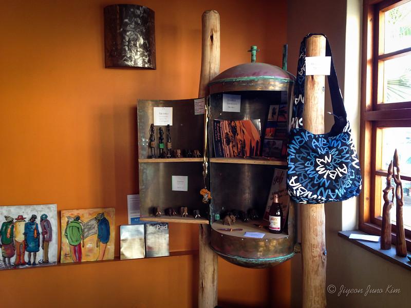 Check out their souvenir/ art stand
