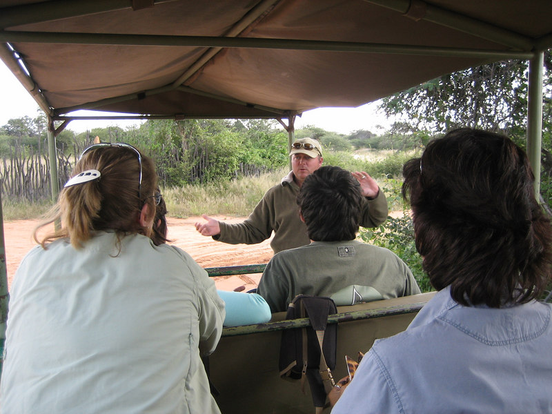 Our guide explaining how we will track the leopards