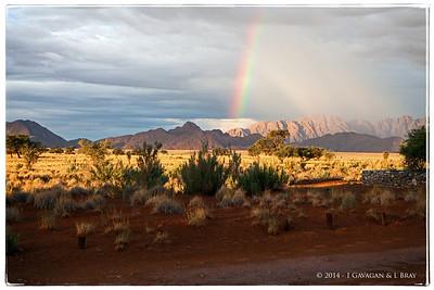 Rainbow at Sesriem
