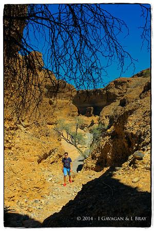 Walking in Sesriem Canyon