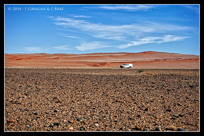 Stony Desert Meets Dunes