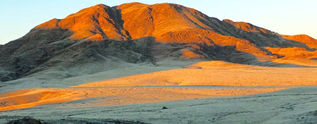 Sossusvlei Dunes at sunset.