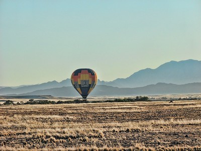 Balloon about to rise on the Sossusvlei